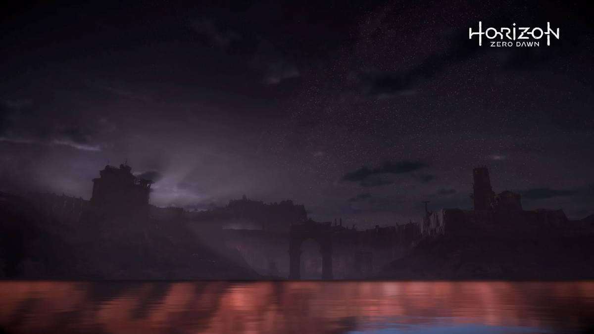 horzion zero dawn at nighttime